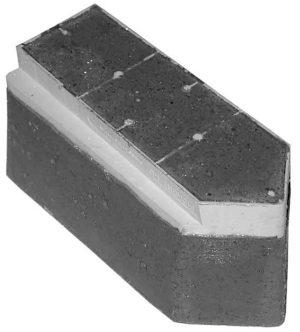 Fickert Schleifsegmente S3K spitz, Länge 140 mm
